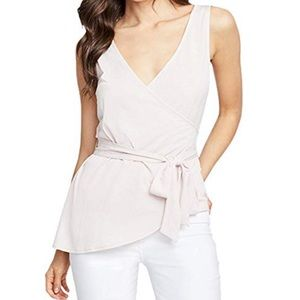 Women's Sleeveless Faux Wrap Wrap Top